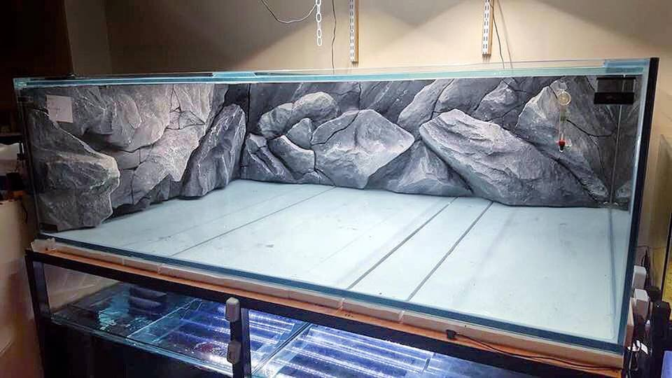 Fish tank backgrounds with rocks decoration, our model A2